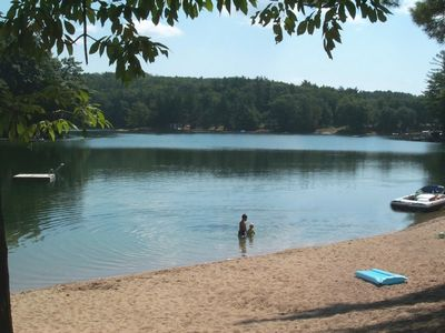 Traverse City cottage rental - Private beach for resort