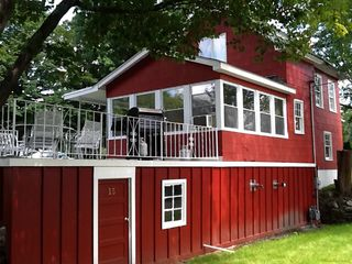 Enjoy meals on deck overlooking lake - Greenwood Lake house vacation rental photo