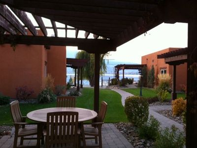 Patio area with stunning views of Osoyoos Lake