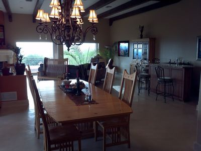 Tucson house rental - View from kitchen into dining and living rooms