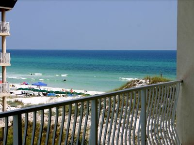 BALCONY VIEW FROM 302B!  Overlooks pool and Gulf!
