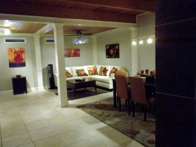 The open living dining area is ideal for having friends over.