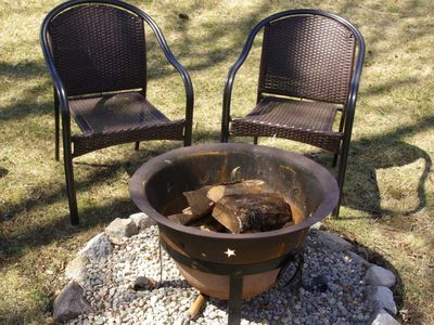 Relax around the fire pit.