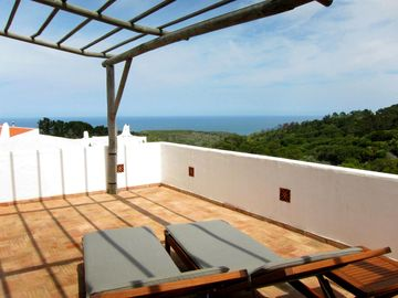 Cabo da Roca villa rental - Private terrace view to the Atlantic