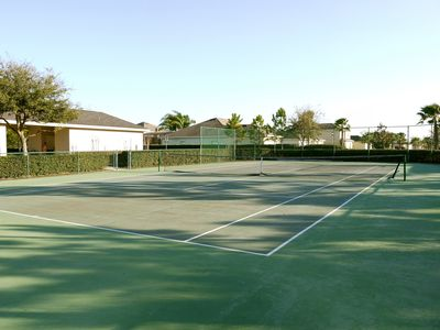 Tennis Court, Cabanas and adjoining young childrens' play area
