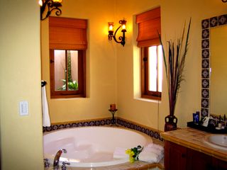 Loreto house photo - Bathroom with walk in shower, oversized tubs & two vanities.