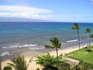 Lahaina condo photo - Ocean Front View From Lanai & Living Room