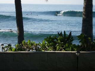 Makaha studio photo - Your view from the Suite. Sit here and watch the Surfers for hours.