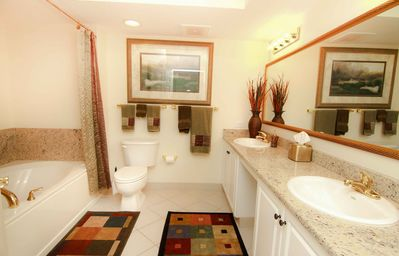 MASTER BATHROOM WITH JACUZZI /GRANITE COUNTERTOPS