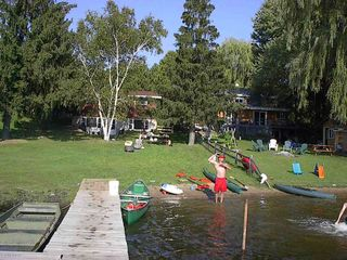 Waupaca house photo - The yard from main dock