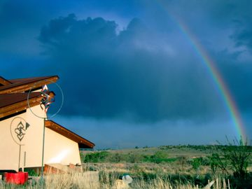 Watch the weather change in the comfort of La Luz Desert Retreat.