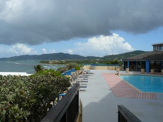 St. Croix condo photo - view from the condo pool deck eastward
