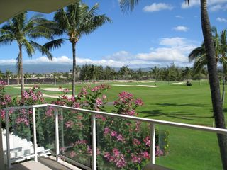 Waikoloa Beach Resort condo photo - Another view from our lana -- looking out at the King's Golf Course