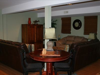 Downstairs Family room/gameroom/xtra BR! Very COZY!!