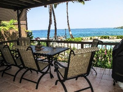 Kailua Kona house rental - We love having all of our meals on the spacious lanai -- with its Weber grill