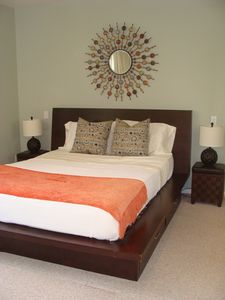 Bedroom with Queen Size Bed and Futon Bed