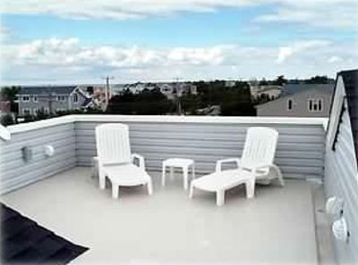 Harvey Cedars house rental - Roof-top deck with water and sunset views