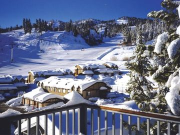 Big Bear Lake house rental - View of Big Bear Mtn Resort from top deck