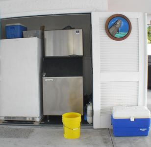 Love to Fish? This 500 lb Ice Machine and Freezer will keep your catch cold.