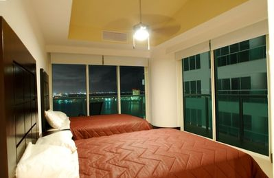 Guestrooom #4 with Direct Western Lagoon Views, City Views, and Direct Ocean