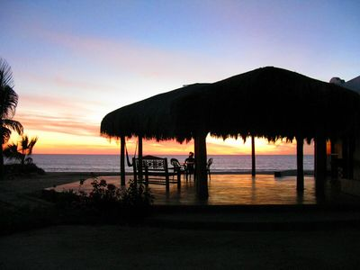 Todos Santos house rental - Private Palapa right on the beach