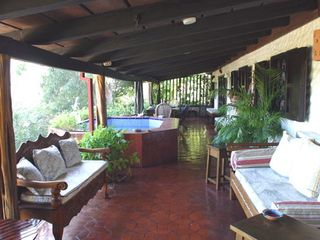Playa Flamingo cottage photo - Veranda with Jacuzzi.