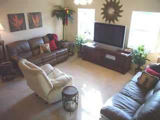 Cape Coral house photo - Comfy family room, 5 reclining seats, 50 inch TV