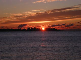 Staten Island apartment photo - Sunset at the beach, across the street from home. Picture taken by the guest