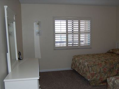 Second bedroom with view of intercoastal waterway.