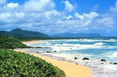 Lihue hotel rental - 3-mile strolling beach in front of Resort! Longest walking shoreline in Kauai !!