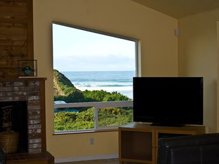 Bandon house photo - One of the Ocean Views from Sofa Area