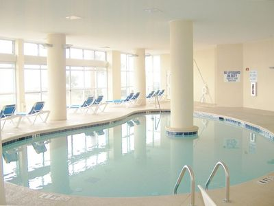 Swimming Pool. covered, can be open to outside in summer.