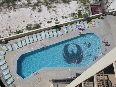 Outdoor Pool From Condo Balcony