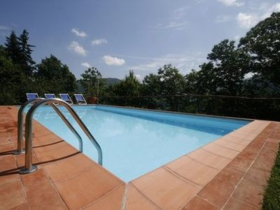 Bagni di Lucca chateau / country house rental - La Canonica private swimming pool