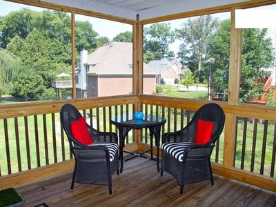 Louisville house rental - covered patio off kitchen.