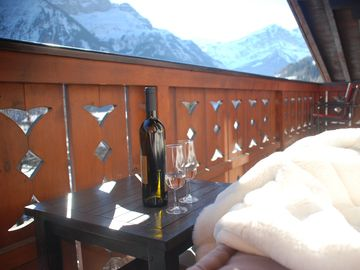 Enjoy a glass of wine after a hard days skiing