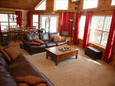 La Follette house rental - Main Living Area Can't Get Any Better!