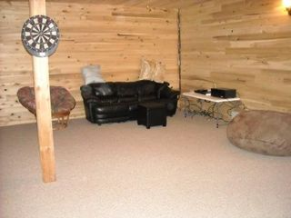 Nancy cabin photo - Seating area in Basement facing Movie Screen