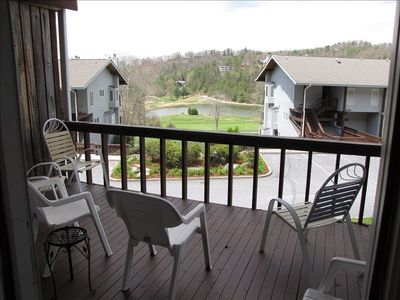 Deck Overlooking Lake and Golf Course