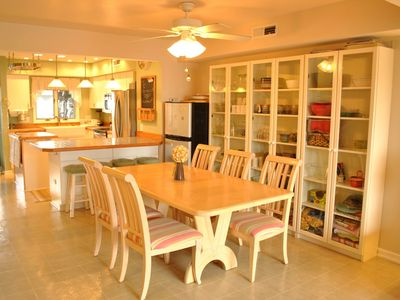 Large Dinning Room: Seats 8, opens to kitchen, 2nd fridge for beverages