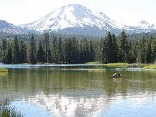 Burney house photo - View of Mt. Lassen and Manzanita Lake