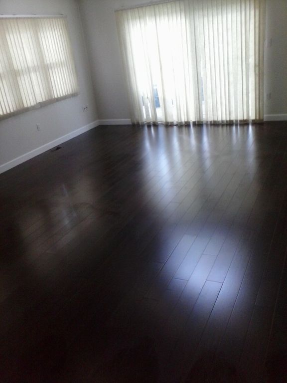 Living room, new 3/4 inch solid hardwood