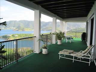 Water Island house photo - View from back covered veranda.