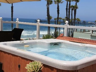 Therapeutic spa with ocean views.