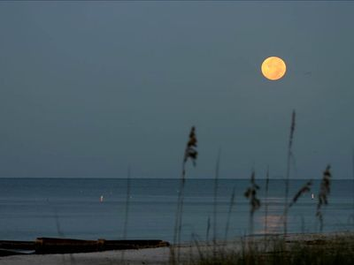 Walk along the beach in the moonlight. What a perfect time you will have.