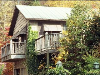 Bryson City cottage photo - Side View-Deck