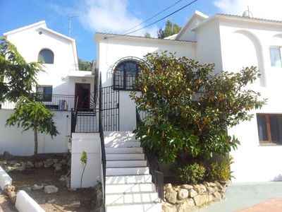 Sitges Town villa rental - front view of the villa