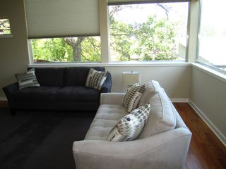 Living room with new cozy sofas - Austin house vacation rental photo