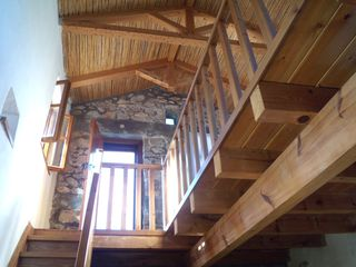 Gythion villa photo - Stairs to sleeping loft from bedroom