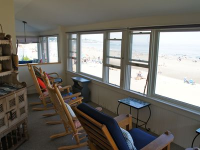 Beach side sitting enclosed porch